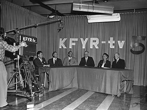 KFYR-TV's first broadcast.