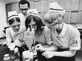 U-Mary Nursing student, 1960s